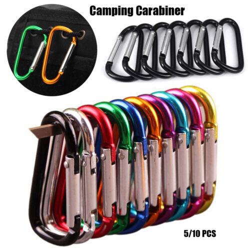 Aluminium Alloy Carabiner Buckle Keychain Camping Hiking Hook Climbing Buckles