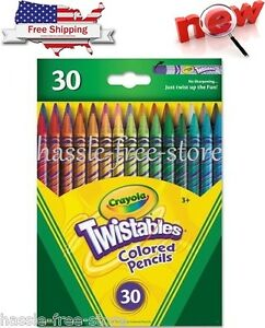 Crayola 30Ct Twistables Colored Pencils Toy New Fast Shipping