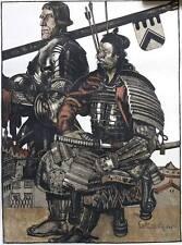 Fine 1930s Samurai ORIGINAL lithograph by ROLAND STRASSER (1895-1974)
