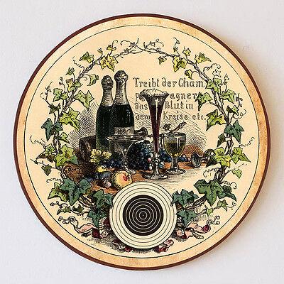 """Orderly Champagne Bottiglia Occhiali Frutta Münchener ="""" """"= Schützenscheibe 30cm 68 Pure And Mild Flavor Arredamento D'antiquariato"""