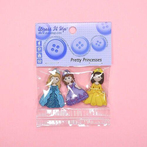 DRESS IT UP Buttons Pretty Princesses 7708 Girls Princess School Fairy