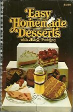 Easy Home made Desserts with Jell-O Pudding Paperback 1979