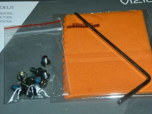 "M420SL//M470SL//M550SL Genuine VIZIO /""SCREWS/"" for TV Stand w//allen key /& Maual"