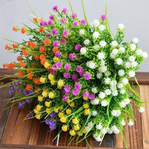 X3V1 Hauptdekor grüne Plastikblumen Anlagen die künstliches Eukalyptus Gras