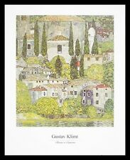 Gustav Klimt Kirche in Cassone Poster Bild Kunstdruck im Alu Rahmen 40x50cm