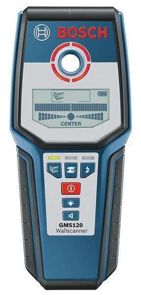 BOSCH GMS 120 Wall Scanner,4-3 4 In Depth,LCD