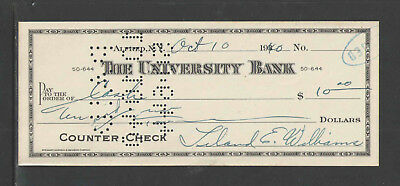1873-4 FIRST NATIONAL BANK YONKERS NY ANTIQUE CHECK BOARD OF WATER COMMISSIONERS