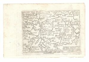 1667 Map Ancient Franconia Bayern Germany Marchetti Ortelius