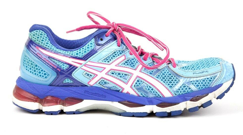 Asics Gel-Kayano 21 Women's Sz US Blue 9.5M Blue US White Pink Running Shoe Dual Max IGS 07933f
