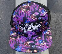 Vans Skateboard Co. Nintendo Mario Purple Patch Logo Womens Snapback Hat