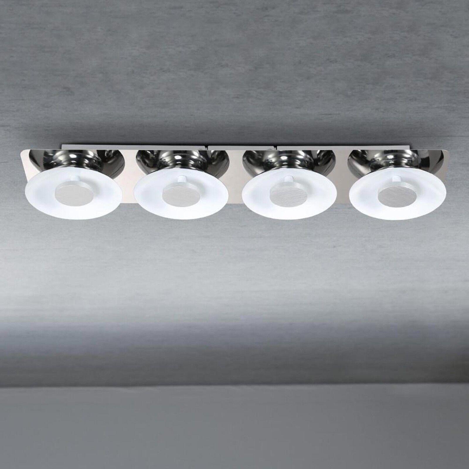 Wofi LED-Deckenleuchte Space 4-flg Chrom Dimmbar 24 Watt 2200 Lumen Lampe Licht