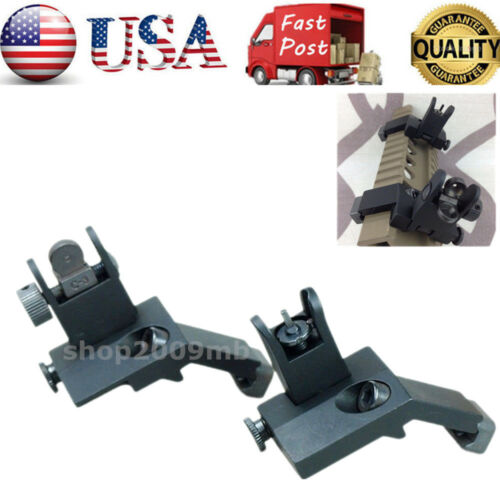 US Flip Up A R Front/&Rear Side Iron Sight 45 Degree Set QD Rapid Transition BUIS