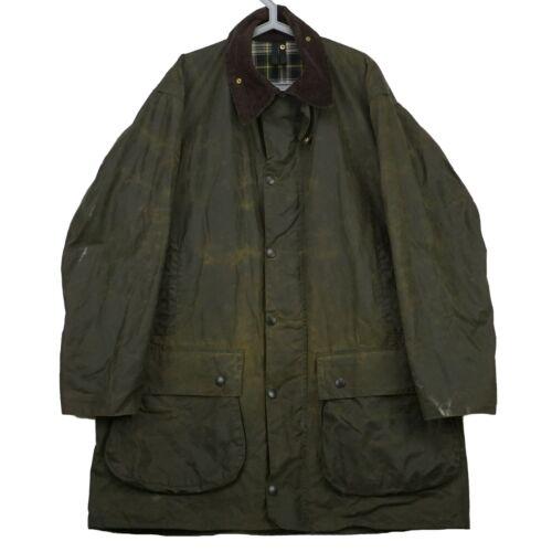 Men's Vintage Waxed Barbour Border Olive Jacket Si