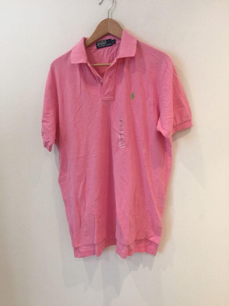 Ralph Lauren Men Pink Polo T-Shirt Large