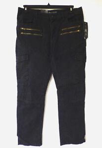 Marc-Ecko-Cut-amp-Sew-Mens-Size-36X30-Slim-Straight-Moto-Stretch-Cargo-Pants-New
