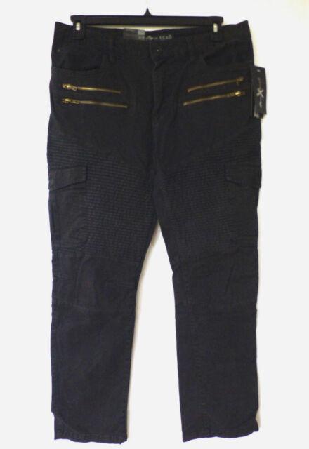 Marc Ecko Cut & Sew Mens Size 36X30 Slim Straight Moto Stretch Cargo Pants New