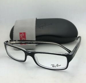 85cfaa910e New RAY-BAN Rx-able Eyeglasses RB 5114 2034 52-16 135 Black on Clear ...