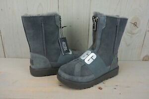 1d17ffa91c8 Details about UGG CONNESS CHARCOAL WATERPROOF FRONT ZIP LOGO WINTER BOOTS  US 5.5 NIB