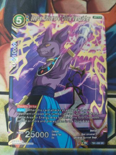 Beerus Universe 7 Divine Vanquisher BT1-030 SR Dragon Ball Super Card Game TCG