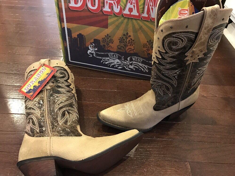 Durango Crush Tan Brown Cowgirl Cowgirl Cowgirl Western Collar  Boots DCRD007 Women's 7.5 M 660b34