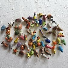 10 Pcs Mixed Mini Animals Ceramic Miniature Handcrafted Collectible Home Decor