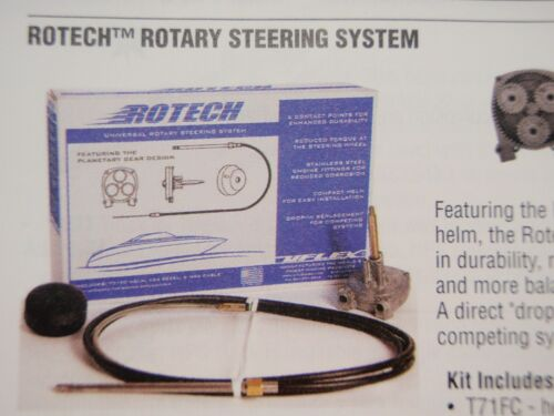 STEERING CABLE HELM ROTARY SYSTEM ROTECH10FC 10 FT M66 CABLE MARINE BOAT PARTS