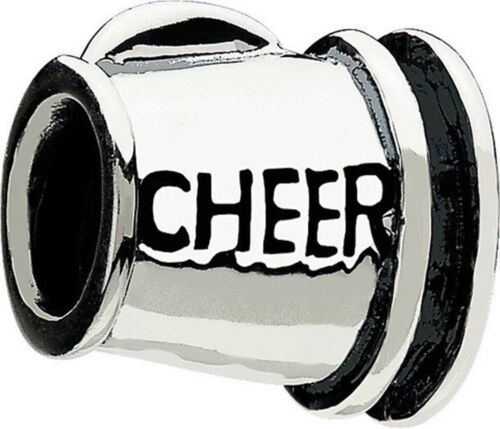 Authentique Argent Sterling 925 CHAMILIA Cheer Bead GD-3 pom-pom girl College charme