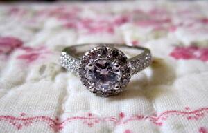 Zircon-Ring-Engagement-Wedding-Promise-White-Gold-Size-8