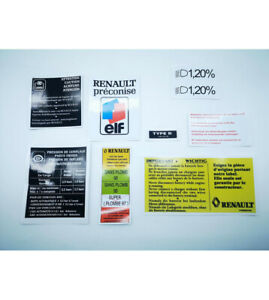 9-Autocollants-stickers-Renault-clio-Williams-compartiment-moteur
