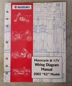 """2002 Suzuki Motorcycle & ATV Wiring Diagram Manual """"K2 ..."""