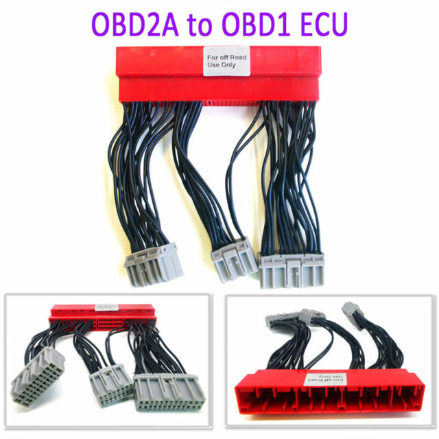 Obd2a To Obd1 ECU Conversion Harness Adapter Jumper For