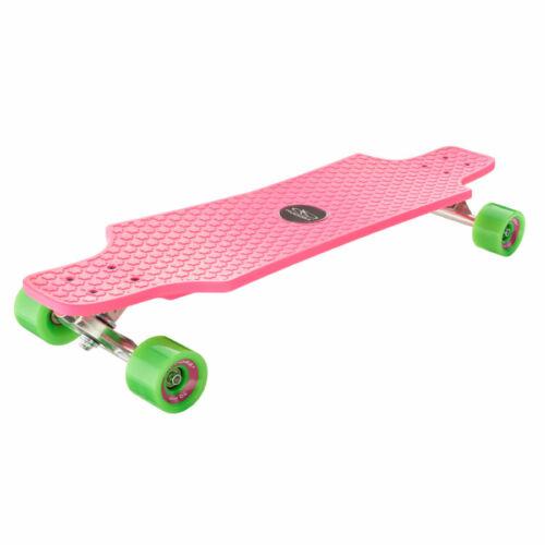 Hudora Longboard 12712 Fun Cruiser Skateboard Kids Street Board Pink 76 x 21 cm