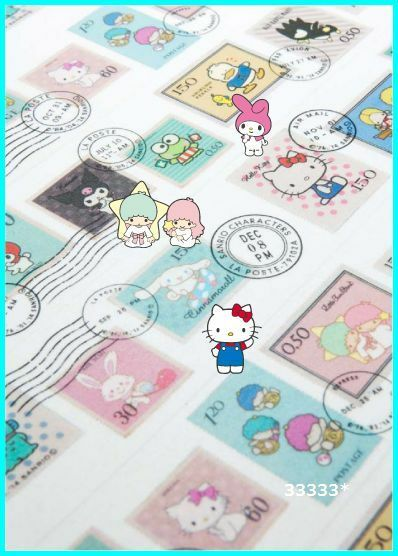 NEW!! mt masking tape sanrio kitty's stamps kawaii made in Japan
