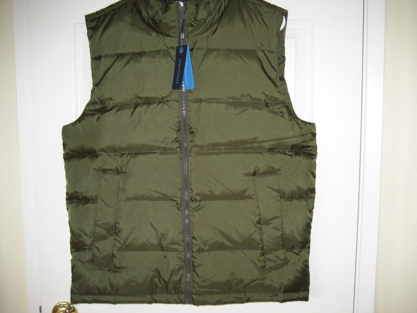 NWT Gap  Herren Down Filled Zipper Vest Small