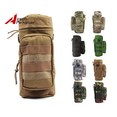 1X Tactical Wargame Bicycle Bike Molle Zipper H2O Water Bottle Pouch Bag Holder