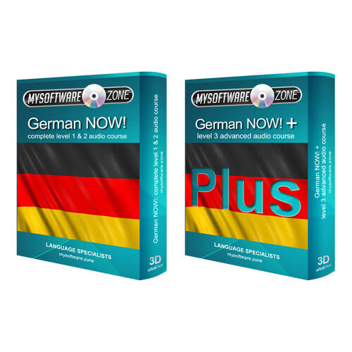 Learn to Speak German Language Fluently Value Pack Course Bundle Level 1 2 /& 3