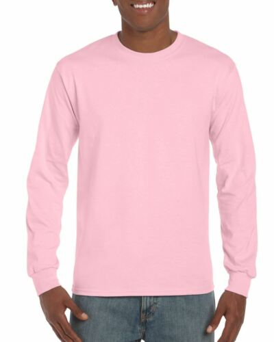Gildan Mens Ultra Cotton Adult Long Sleeve Plain T Shirt Tshirt Cotton Tee Shirt