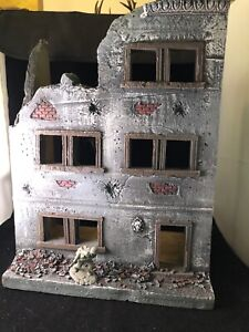 WW2-Ruined-Building-1-32-scale-And-painted-foam-approx-13-x-10-Conte-Marx