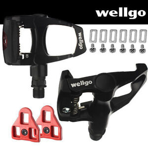 Repacked-Wellgo-Road-Bike-Pedals-Look-ARC-Compatible-with-Cleats-Black