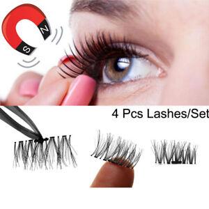 f675968650e Ultra-thin Magnet 4Pc Lashes 3D Magnetic False Eyelashes Extension ...