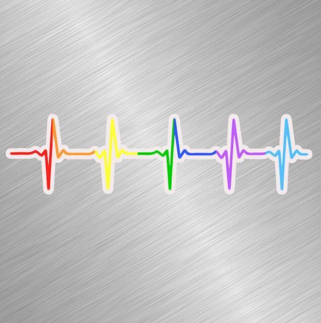 LGBT Love Rainbow Heart Vinyl Car Decal