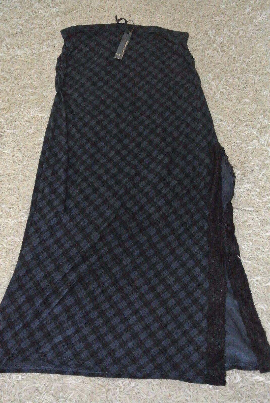 JEANS BY BUFFALO MAXI BOHO Skirt L XL NWT 89 Amazing Fabric-Stretch-bluees-Plaid