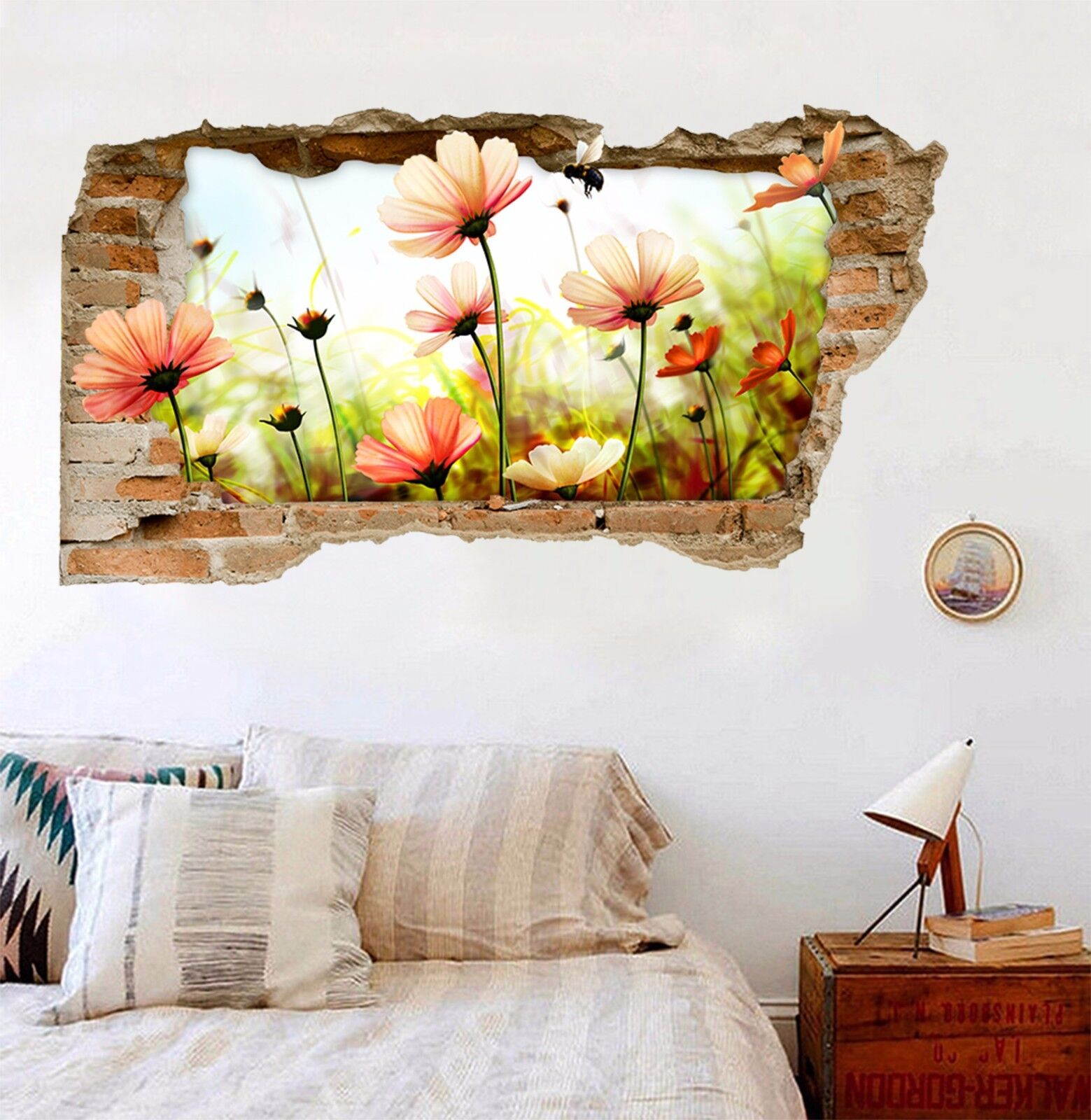 3D Fiori Campo Ape 241 Parete Murales Adesivi Decal Sfondamento AJ WALLPAPER IT