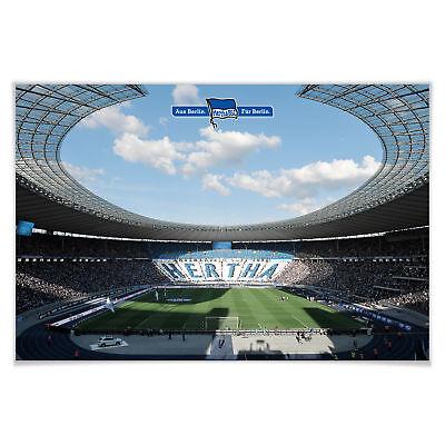 Poster Hertha BSC - Stadion am Tag Wandbild Wanddeko FSC zertifiziertes Papier
