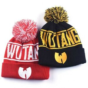 55a9025ac Details about NEW Wu-Tang Clan Beanie Skullies Knitted Wu Tang Hat HipHop  Winter High Quality