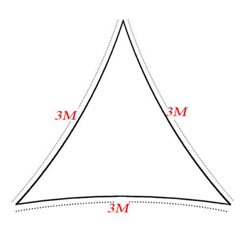 Triangle de Jardin Patio Sun Shade Sail Canopy auvents UV Block Couvercle étanche UK