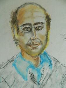 Zeichnung Original von Robert Lakhdar Porträt Boubker IN Farbe