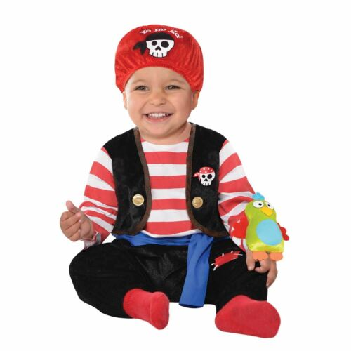 Kids Boys Girls Baby Buccaneer Pirate Captain Sailor Jumpsuit Fancy Dress Outfit