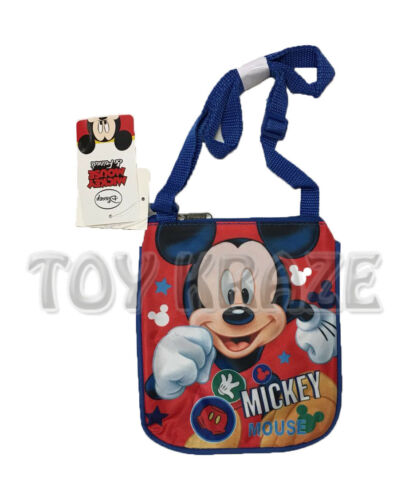 """MICKEY MOUSE SLING BAG RED /& BLUE SMALL SATCHEL CROSSBODY PURSE 8/"""" NWT"""