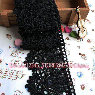 FP146 8cm,1yard delicate embroidered Cotton lace trim for Skirt Curtain Sewing